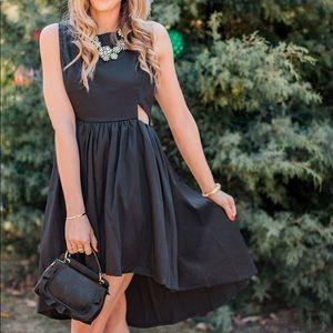 Blogger Fave Francesca's Black Cut-Out Dress Small